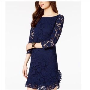Vince Camuto Navy Lace Dress 6
